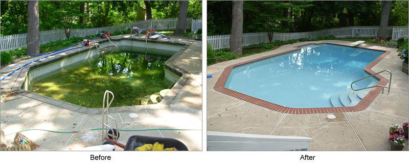 Acid Wash Gunite Pool : Green to clean living water pool service